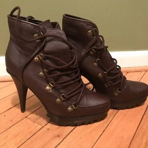 Shoes - Military Style Combat Boots Size 10